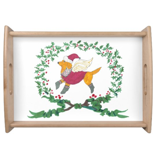 Gulliver's Angels Yellow Lab Holiday Serving Tray