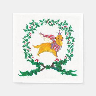 Gulliver's Golden Retriever Christmas Napkins Paper Napkins