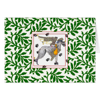Gulliver's Scottish Deerhound NOEL Christmas Card