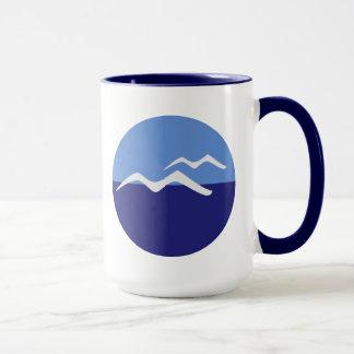 Gulls / Black 444 ml  Ringer Combo Mug