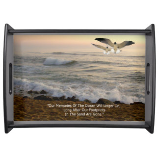 GULLS & OCEAN QUOTE SERVING TRAY