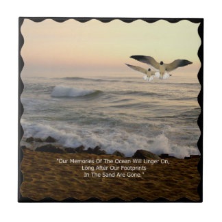 GULLS & OCEAN QUOTE TILE