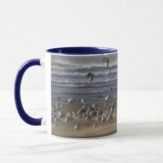 Gulls on a Windy Beach Mug