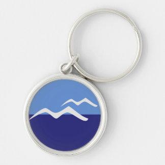 Gulls / Small (3.7 cm) Premium Round Key Ring Silver-Colored Round Keychain