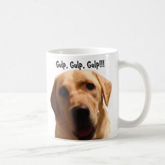Gulp, Gulp, Gulp!!!   Cute Yellow Lab Mug