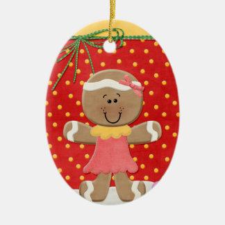 Gum Drops and Ginger Bread Ceramic Ornament