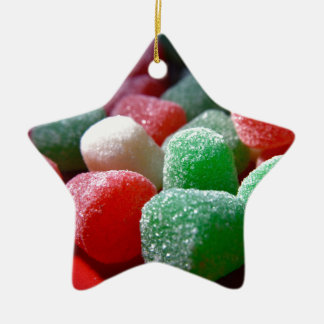 Gum Drops Ceramic Star Ornament