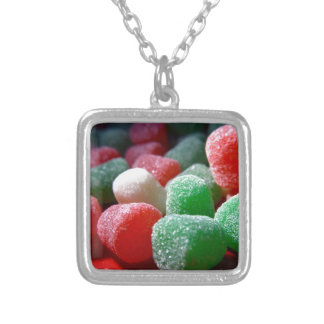 Gum Drops Silver Plated Necklace