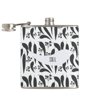 Gum Leaves and Gumnuts Hip Flask