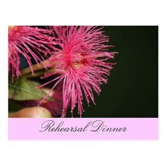Gum Tree Flowers Wedding Rehearsal Invite Postcard