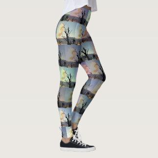 Gum Trees Abstract Art, Leggings