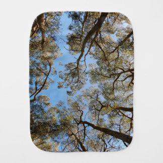 Gum Trees against a Blue sky Burp Cloth