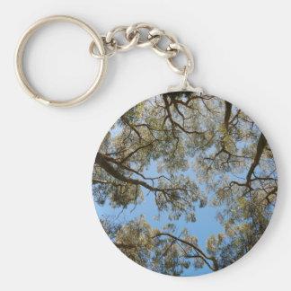 Gum Trees against a Blue sky Keychain