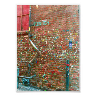 gum wall photo print