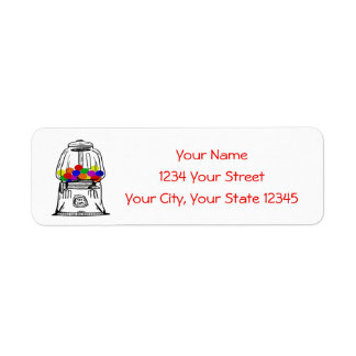 Gumball Machine Address Label