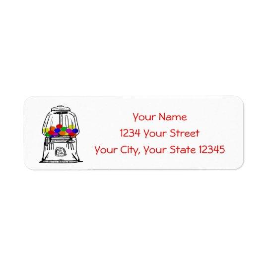 Gumball Machine Address Label