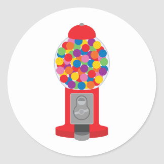 gumball machine classic round sticker