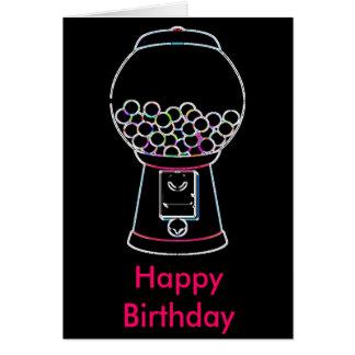 Gumball machine Glow, Happy Birthday Card