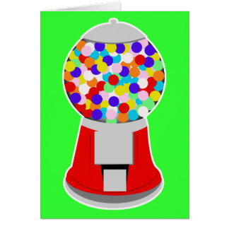 Gumball Machine Greeting Card