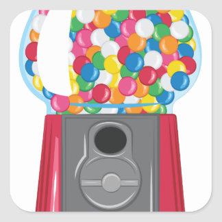 Gumball Machine Square Sticker