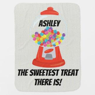 Gumball Machine Sweet Treat Hard Candy Gum Sugary Baby Blanket