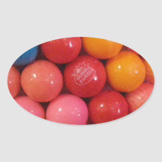 Gumballs Oval Sticker