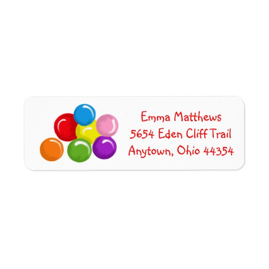 Gumballs Return Address Labels