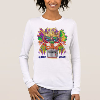 Gumbo Queen Mardi Gras All Style Light View Hints Long Sleeve T-Shirt