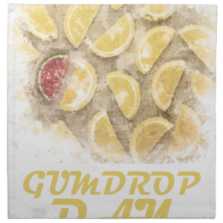 Gumdrop Day - 15th February Appreciation Day Printed Napkins