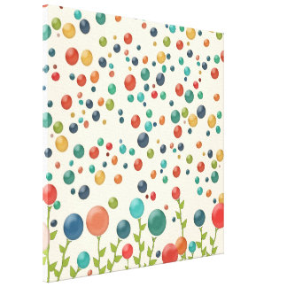 Gumdrop Garden Colorful Canvas Print