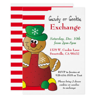 Gumdrop Gingerbread Cookie & Candy Exchange Card