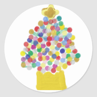 Gumdrop Tree Classic Round Sticker