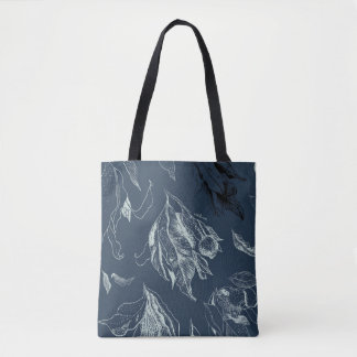 Gumleaves Tote – blue & pale green