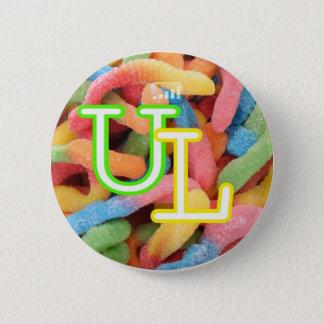 gummi worm$ 2 inch round button