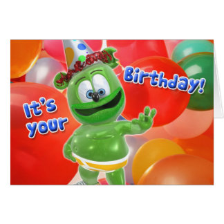 Gummibär Birthday Balloon Card