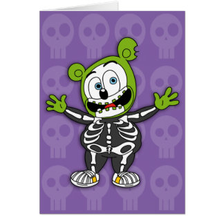 Gummibär Skeleton Halloween Card