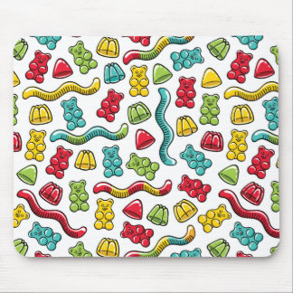 Gummy Bear Candy Sweets Colorful Jelly Mousepad