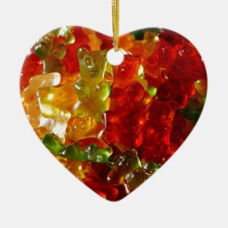 Gummy Bear Ceramic Heart Ornament