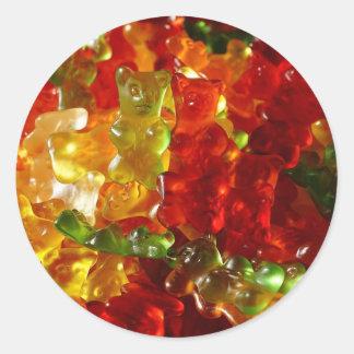 Gummy Bear Classic Round Sticker