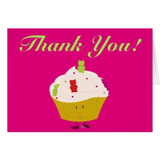 Gummy Bear Cupcake thank you Card