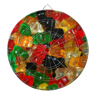 Gummy Bear Dartboard With Darts