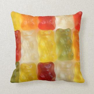 gummy bear dreams throw pillow