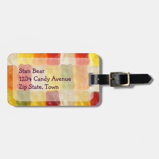 gummy bear luggage tag