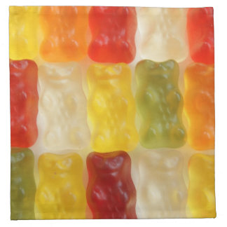 gummy bear printed napkin