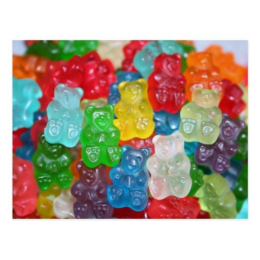 gummy-bear postcards