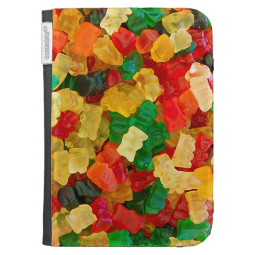 Gummy Bear Rainbow Colored Candy Kindle Keyboard Covers