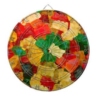 Gummy Bear Rainbow Colored Candy Dartboards