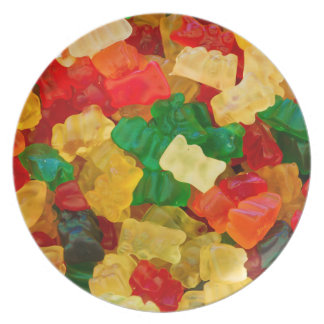 Gummy Bear Rainbow Colored Candy Plate