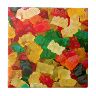 Gummy Bear Rainbow Colored Candy Tiles
