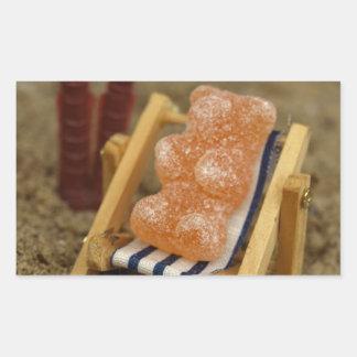 Gummy Bear Relaxing on Beach
